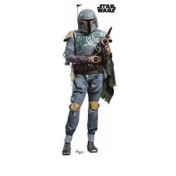 POSTER PEGATINA STAR WARS BOBA FETT ESCALA 1.1 Merchan Cine y TV Star Wars