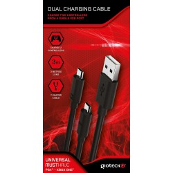 CABLE DE CARGA DOBLE PARA MANDOS PS4 Y XBOX ONE GIOTECK DUAL CHARGING CABLE