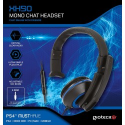 AURICULAR CON MICRO PARA PS4 XBOX ONE PC CON CABLE XH-50 WIRED MONO HEADSET