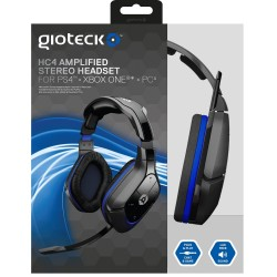 AURICULARES AMPLIFICADOS CON MICRO Y CABLE PS4 XBOX ONE PC HC-4 STEREO HEADSET