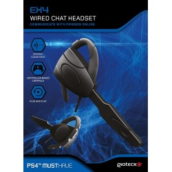 AURICULAR PARA CHAT MICRO Y CABLE PARA PS4 GIOTECK EX4 WIRED CHAT HEADSET
