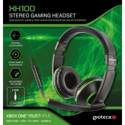 AURICULARES CON CABLE Y MICRÓFONO XH100 WIRED STEREO HEADSET PS4 XBOX ONE PC