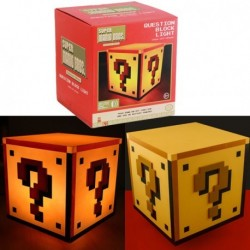 LAMPARA NINTENDO CUBO QUESTION Y USB MERCHANDISING VIDEOJUEGOS MERCHAN NINTENDO