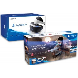PACK PLAYSTATION VR + JUEGO FARPOINT + AIM CONTROLLER PS4 PSVR CASCO JUEGO FUSIL