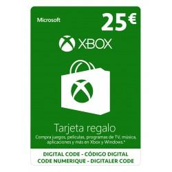MICROSOFT XBOX TARJETA REGALO 25 € GIFTCARD - ENVIO TARJETA CON CODIGO
