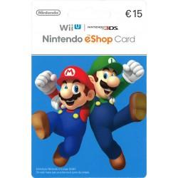 NINTENDO ESHOP CARD 15 € RECARGA 3DS WII WIIU SWITCH - ENVIO TARJETA CON CODIGO