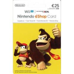 NINTENDO ESHOP CARD 25 € RECARGA 3DS WII WIIU SWITCH - ENVIO TARJETA CON CODIGO