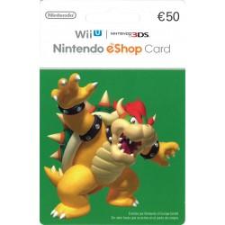 NINTENDO ESHOP CARD 50 € RECARGA 3DS WII WIIU SWITCH - ENVIO TARJETA CON CODIGO