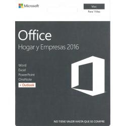 MICROSOFT OFFICE HOGAR Y EMPRESAS 2016 PARA 1 MAC CÓDIGO DIGITAL CODE