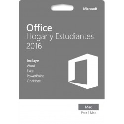 MICROSOFT OFFICE HOGAR Y ESTUDIANTES 2016 PARA 1 MAC CÓDIGO DIGITAL CODE