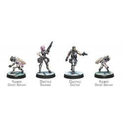 ALEPH - DACTYLS STEEL PHALANX SUPPORT PACK JUEGOS DE MINIATURAS INFINITY ALEPH