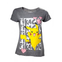 CAMISETA CHICA POKEMON PIKACHU LOVE L CAMISETAS MANGA POKEMON