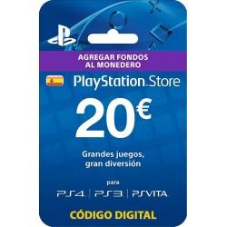 PLAYSTATION STORE TARJETA 20 € PS4 PS3 PSVITA PSN - ENVIO TARJETA CON CODIGO