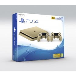 PS4 SLIM 500 Gb CONSOLA PLAYSTATION 4 DORADA GOLD + 2 DUALSHOCK V2 DORADOS GOLD