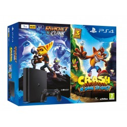 PS4 SLIM 1 TB PLAYSTATION 4 + CRASH BANDICOOT N´SANE TRILOGY + RATCHET & CLANK
