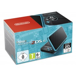 NEW NINTENDO 2DS XL NEGRO TURQUESA NUEVA CONSOLA PORTÁTIL COMPATIBLE 3DS