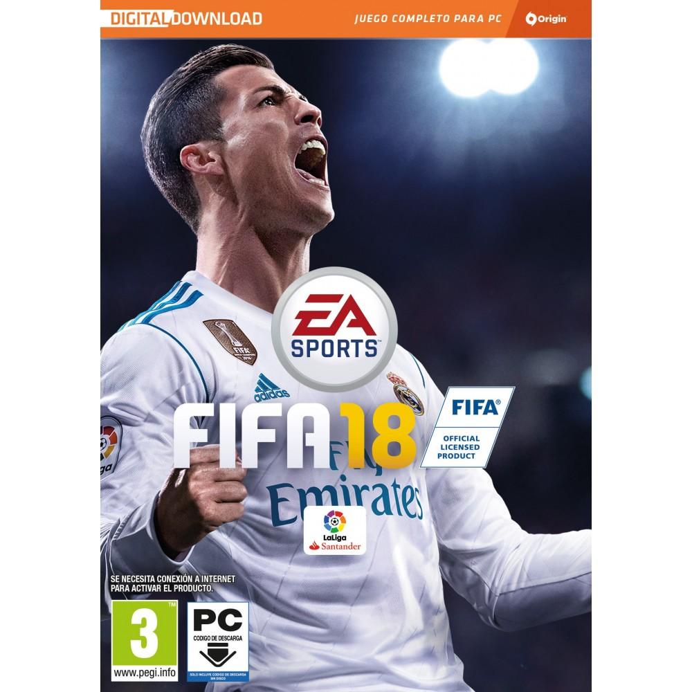 FIFA 18 VIDEOJUEGO PC CÓDIGO DE DESCARGA ORIGIN EN CAJA PC