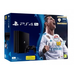 PS4 PRO 1TB + FIFA 18 + 14 DIAS PSPLUS CONSOLA PLAYSTATION 4 4K HDR PLAY4