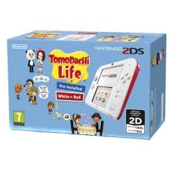 NINTENDO 2DS COLOR ROJO + JUEGO TOMODACHI LIFE PREINSTALADO COMPATIBLE 3DS