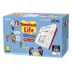 NINTENDO 2DS COLOR ROJO + JUEGO TOMODACHI LIFE PREINSTALADO COMPATIBLE 3DS