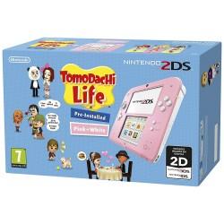 NINTENDO 2DS COLOR ROSA + JUEGO TOMODACHI LIFE PREINSTALADO COMPATIBLE 3DS
