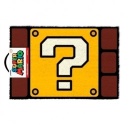 FELPUDO SUPER MARIO QUESTION 40X60 MERCHAN VIDEOJUEGOS MERCHAN NINTENDO
