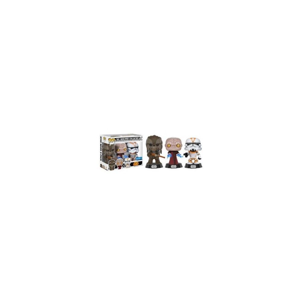 FIGURA POP PACK STAR WARS: TARFUL, EMPEROR & UTUPAU FIGURAS CINE STAR WARS