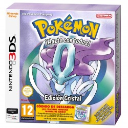 POKEMON CRISTAL 3DS CAJA CON CÓDIGO DESCARGA NINTENDO COMPATIBLE 2DS