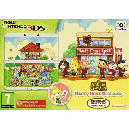 CONSOLA NEW NINTENDO 3DS + ANIMAL CROSSING HAPPY HOME DESIGNER PREINSTALADO