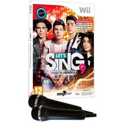 LETS SING 9 WII VERSION ESPAÑOLA CON 2 MICROFONOS USB JUEGO FÍSICO NINTENDO WII
