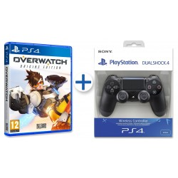 OVERWATCH ORIGINS EDITION PS4 + MANDO DUALSHOCK 4 V2 NEGRO PLAYSTATION 4