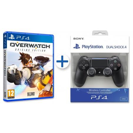 OVERWATCH ORIGINS EDITION PS4 + MANDO DUALSHOCK 4 V2 NEGRO PLAYSTATION 4
