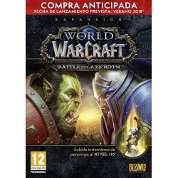 WOW WORLD OF WARCRAFT BATTLE FOR AZEROTH ENVÍO DE CÓDIGO DIGITAL PC EUROPEO