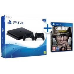 PS4 500GB + UNCHARTED LEGADO + COD WW2 + BLOODBORNE + LAST OF US + HAS SIDO TU
