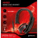 AURICULAR MONO PARA CHAT CON CABLE PS4 XBOX ONE PC XH50 ROJO WIRED MONO HEADSET