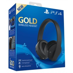 GOLD WIRELESS HEADSET AURICULARES INALÁMBRICOS SONY 7.1 VIRTUAL SURROUND SOUND