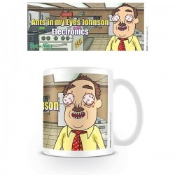 TAZA RICK & MORTY EYES JOHNSON MERCHANDISING CINE Y TV RICK & MORTY