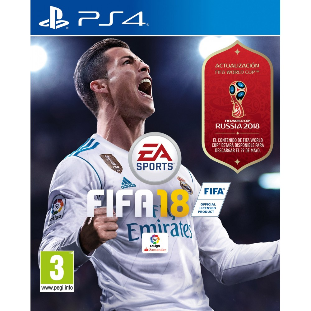 FIFA 18 PS4 VIDEOJUEGO FÍSICO PLAYSTATION 4 PLAY4