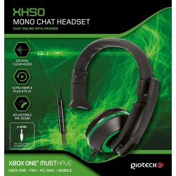 AURICUAL MONO CON CABLE Y MICRÓFONO XH-50 WIRED MONO HEADSET PS4 XBOX ONE PC