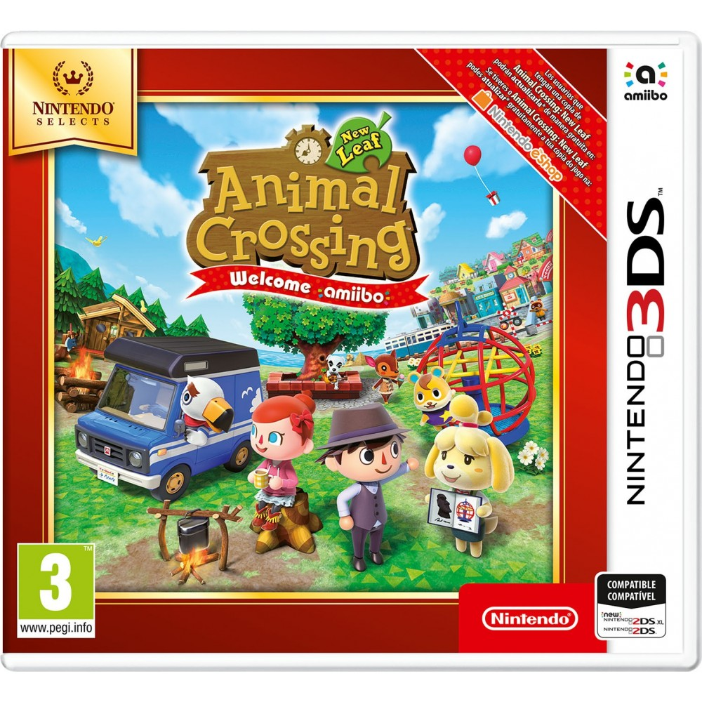 Animal Crossing New Leaf Welcome Amiibo 3ds Selects Juego Fisico
