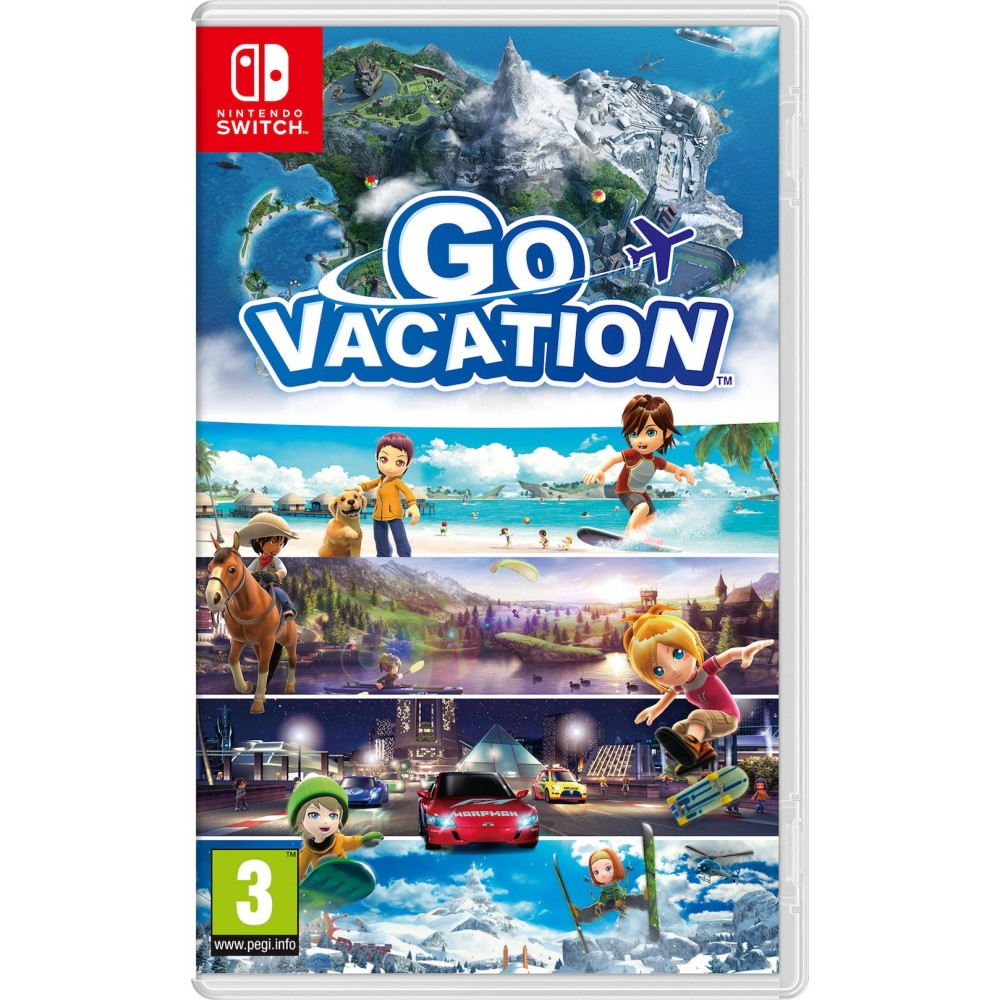 GO VACATION SWITCH JUEGO FÍSICO PARA NINTENDO SWITCH PARA 1 - 4 JUGADORES