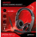 AURICULARES STEREO PARA CHAT CON CABLE PS4 XBOX ONE PC XH100 ROJO STEREO HEADSET