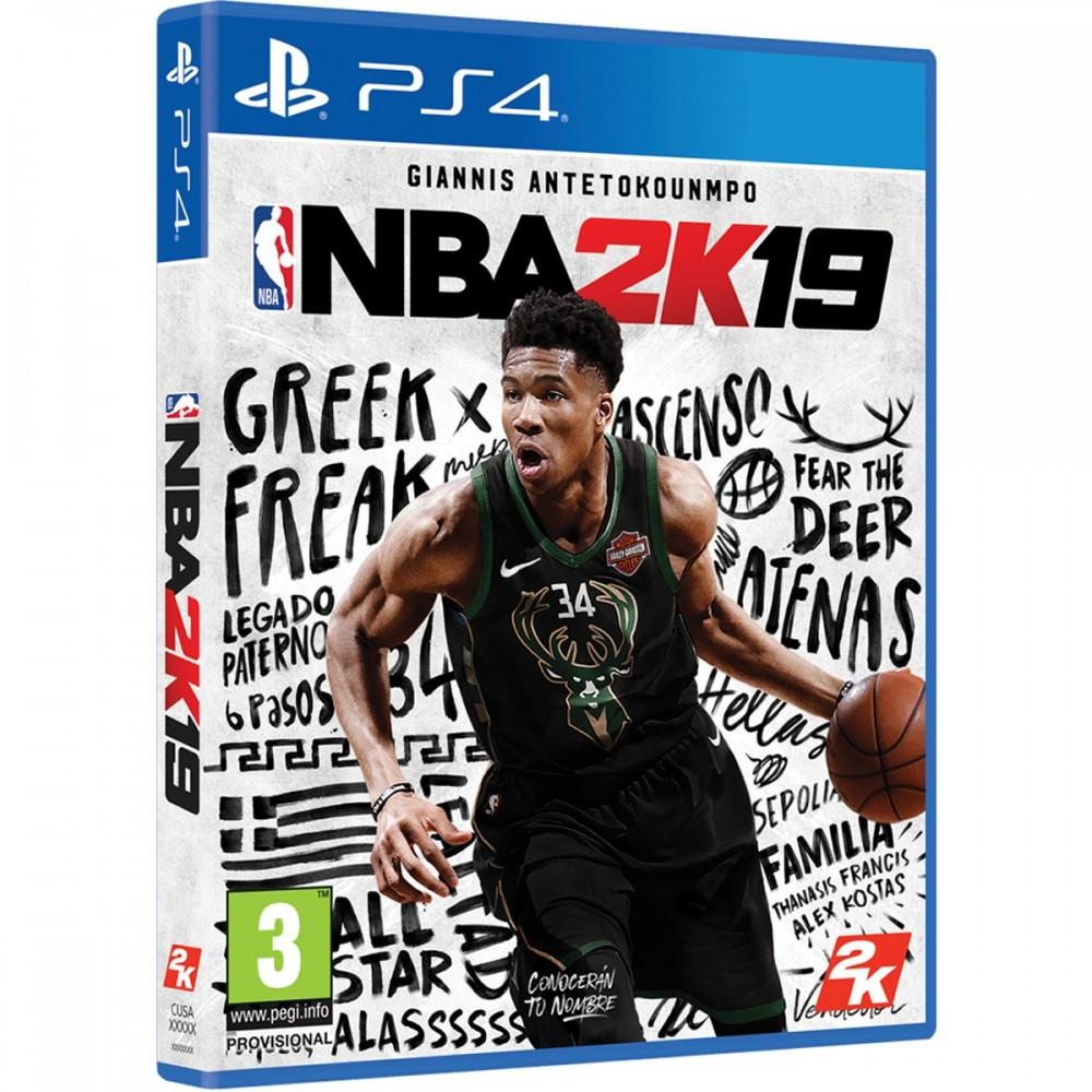NBA2K19 PS4 VIDEOJUEGO FÍSICO PARA PLAYSTATION 4 NBA 2K 19 GIANNIS ANTETOKOUNMPO