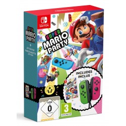 SUPER MARIO PARTY + JOYCON VERDE/ROSA JUEGO FÍSICO + MANDOS NINTENDO SWITCH