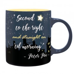 TAZA DISNEY PETER PAN SECOND STAR TO THE RIGHT TAZAS REGALO DISNEY