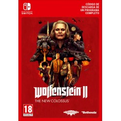 WOLFENSTEIN II: THE NEW COLOSSUS NINTENDO SWITCH DIGITAL DOWNLOAD CODE