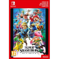 SUPER SMASH BROS. ULTIMATE NINTENDO SWITCH CÓDIGO DE DESCARGA DIGITAL
