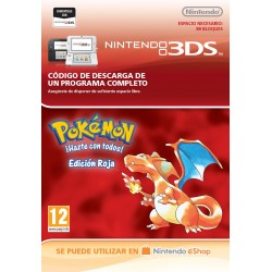 POKÉMON RED EDITION NINTENDO 3DS CÓDIGO DE DESCARGA DIGITAL VIRTUAL CONSOLE