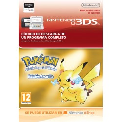POKÉMON YELLOW EDITION NINTENDO 3DS CÓDIGO DE DESCARGA DIGITAL VIRTUAL CONSOLE