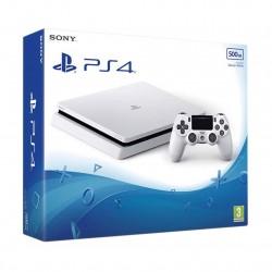 PS4 SLIM BLANCA 500GB CONSOLA PLAYSTATION 4 CON MANDO DUALSHOCK 4 BLANCO